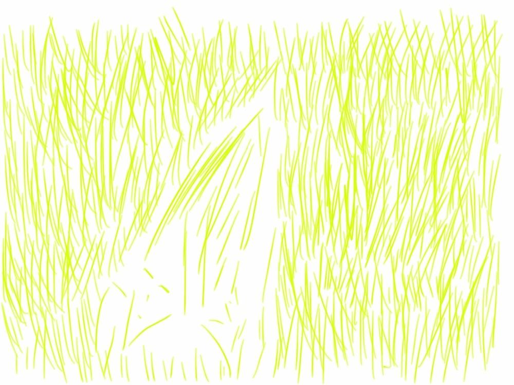 Homme-herbe - dessin sur tablette