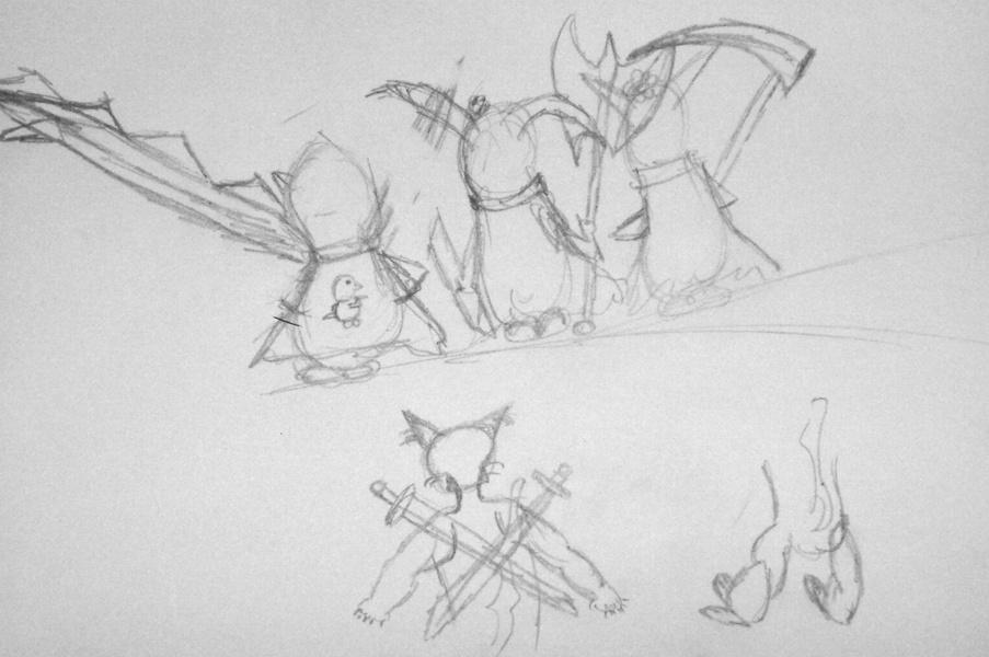 Recherche des personnages - dessin