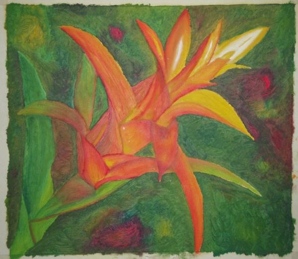 Fleur - peinture à l'huile