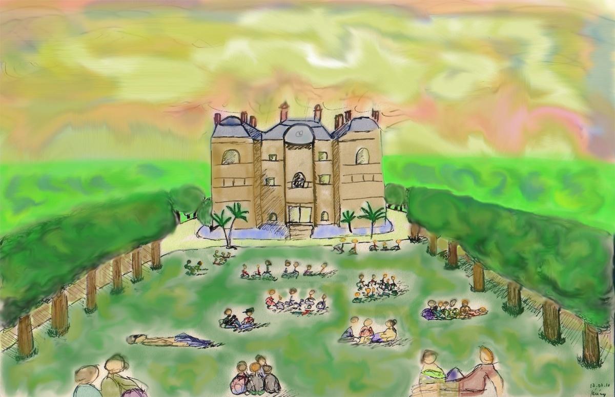 Jardin du Luxembourg essaie de colorisation sur Photoshop