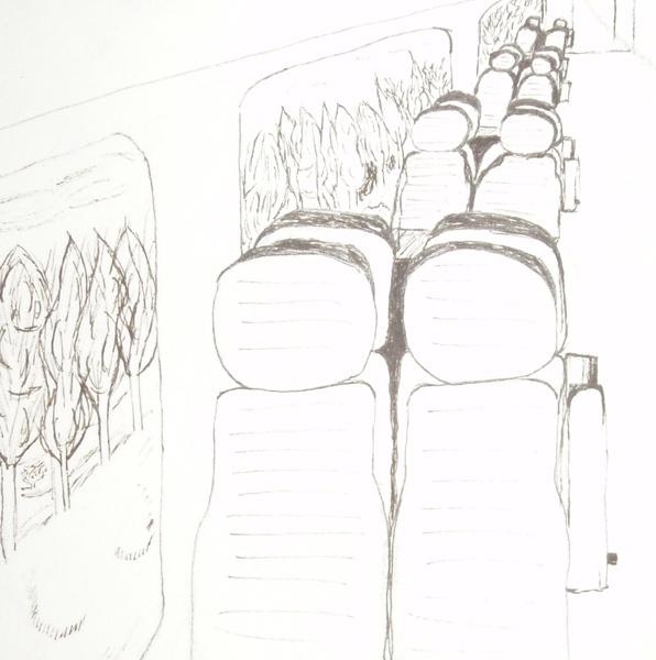 Intérieur train jour